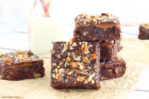Irresistible caramel fudge brownies