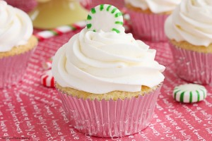 Double peppermint cupcakes