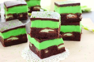Mint chocolate candy brownies