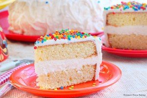 Vanilla bean cake with vanilla bean buttercream