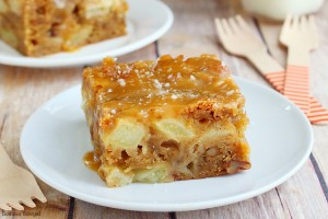 Fresh apple cake with salted caramel graze recipe
