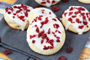 Iced orange cranberry cookies recipe