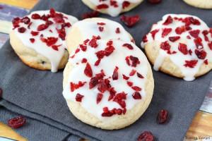 Iced orange cranberry cookies recipe