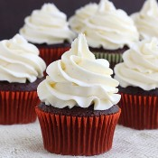 Chocolate cupcakes with vanilla bean buttercream