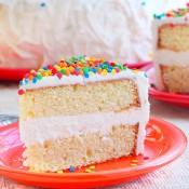Vanilla bean cake with vanilla bean buttercream