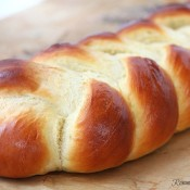 Braided easy egg bread